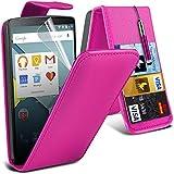 ONX3® ( Hot Pink ) LG G4 Case Custom Made PU-Leder-Schlag mit Kredit- / Bankkarte Slot-Kasten-Haut-Abdeckung mit LCD-Display Schutzfolie, Poliertuch und Mini-versenkbaren Stylus Pen