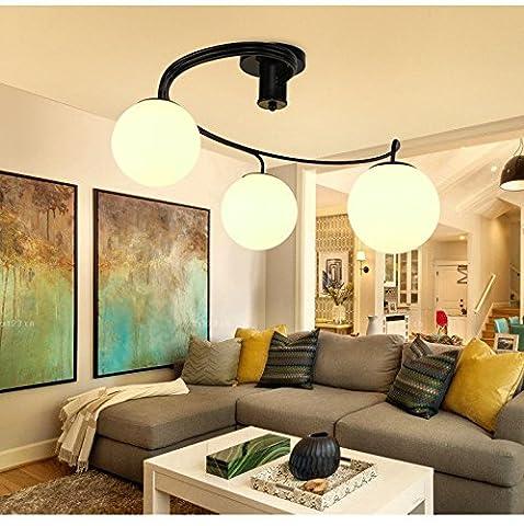QWER Lampe de plafond suspendu lustres modernes a conduit la chambre des enfants chambre-salon chambre à coucher, l'éclairage créatif Restaurant 24