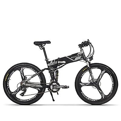 Elektrische klappbar Mountain Fahrrad Herren Fahrrad MTB rt860250W * 36V * 8Ah 66cm Dual Radaufhängung 21speed Shimano dearilleur LG Akku Zelle Doppel Bremse, grau