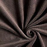 Fabulous Fabrics Cord Stoff – braun — Meterware ab 0,5m — zum Nähen von Jacken, Blazern und Hosen