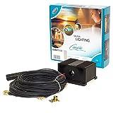 Cariitti 1516705 Glasfaser Beleuchtung Set VPAC-1527-N211 für die 4-6 q.m. Sauna oder Badezimmer; S-Flex ⌀2mm Fasern: 5 х 3.5 m, 5 х 4 m und S-Flex ⌀4mm Faser: 1 x 3.5 m; 16 W IP65 LED-Projektor. Hergestellt in Finnland