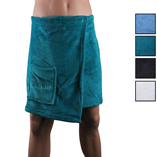 Betz Saunakilt Sauna Kilt für Herren 50x140cm in der Farbe blau Farbe petrol