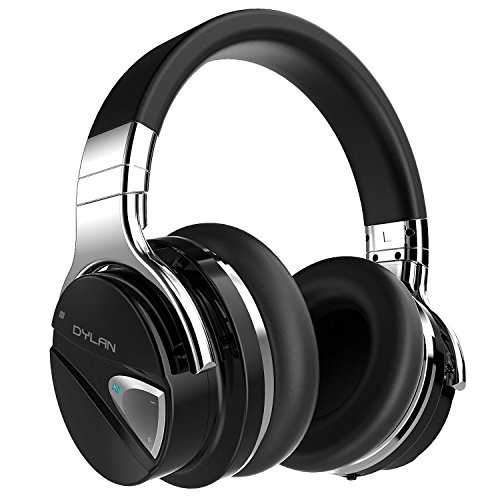 Dylan Active Noise Canceling Wireless Headphone Bluetooth 4.0 with Mic Hi-Fi Stereo Over-Ear Design Carrying Case Included -Black