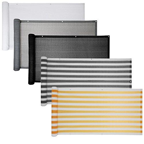 Balkon Sichtschutz verschiedene Modelle / Balkonbespannung Balkonsichtschutz Balkonverkleidung 6 Meter (0,9 x 6,0 Meter, Grau)