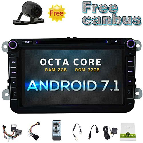 Eincar Gratis CANBUS & Backup-Kamera! Android 7.1 Auto-DVD-Spieler für VW PASSAT Golf 8 '' Touch-Screen-Doppel-DIN-Autoradio GPS-Navigation in der Schlag-Head Unit AM FM Radio-Empfänger-Unterstützung WiFi / 1080P / Spiegel-Link