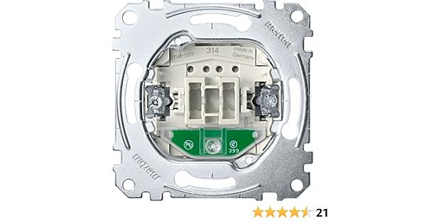 AC 250 V mit Orientierungslicht StK 1-polig 10 AX Merten MEG3136-0000 Aus//Wechselschalter-Eins