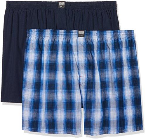 s.Oliver Big Size Herren Boxershorts, 2er Pack Blau (Blue 11c4)