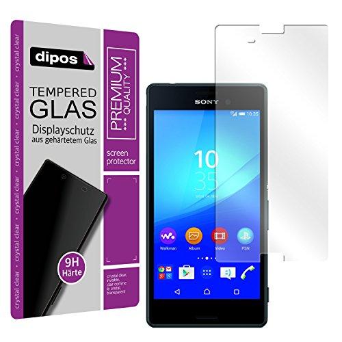 dipos I Hart-Glas passend für Sony Xperia M4 Aqua Panzerfolie I 9H Echtglas Schutzfolie Bildschirmschutz-Folie