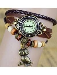 d74f26685817 cofco Elegant Ladies Bronce Búho Boho Chic Vintage hecho a mano weave wrap  reloj de pulsera