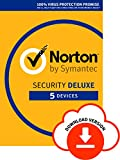 Norton Security Deluxe 2018 | 5 Devices | 1 year&|&Antivirus included&|&PC|Mac|iOS|Android |&Download