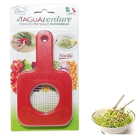 ItalyStore La Dupla - Coupe-légumes en petits cubes 4x 4mm - spécial chicorée
