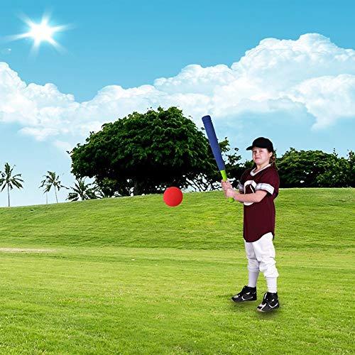 Luerme Kinder weichen Schaum T-Ball Baseball Set Spielzeug 8 Verschiedene farbige Safe Baseball T Ball Spielzeug gehören Organize Tasche für Kinder über 1 Jahre alt