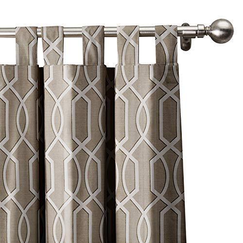 ChadMade Imperial Gitter Vorhang 127B x 160H (1 Panel), Tab Top Verdunklung Vorhänge Verkleidung Verkleidung für Schlafzimmer Wohnzimmer Wohnzimmer Hotel Restaurant (1 Verkleidung) (Papier Tasche Imperial Und)