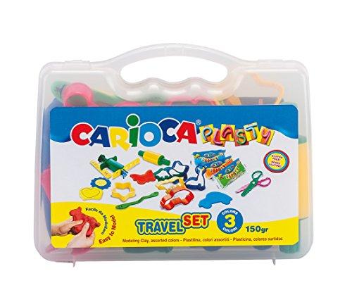 Carioca Koffer Travel Set, mit 17zum Modellieren mit Knete (43245)