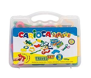 Carioca - Maletín Travel Set, con 17 Accesorios para moldear con plastilina (43245)
