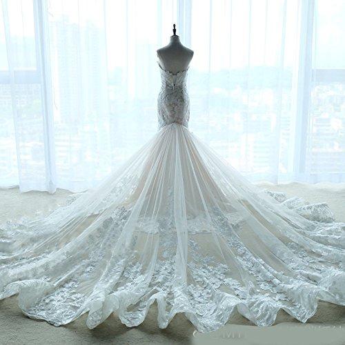 WLG Meili High-End Fischschwanz Hochzeitskleid, Brautschwanz Schlank Abnehmen...