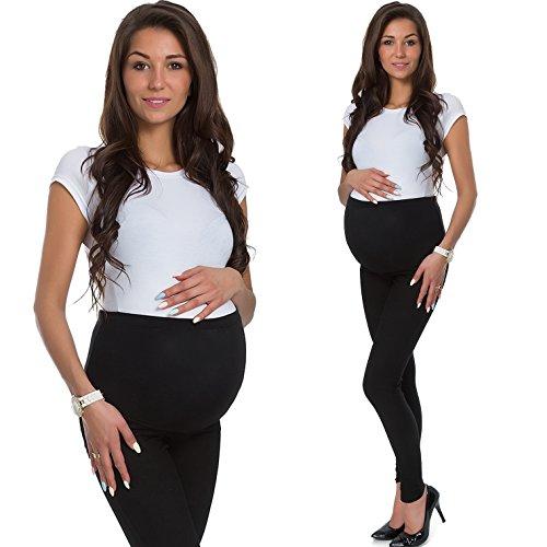 Damen Umstandsmode Leggings Umstandsleggings Umstands- Leggings Strumpfhosen Leggins (XL (42-44), single pack schwarz