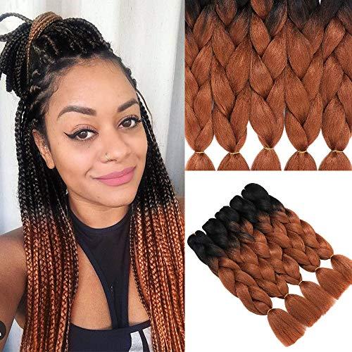 Extensiones cabello trenzado jumbo 5 piezas Moda negro