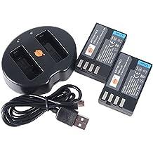 DSTE 2pezzi di batterie batteria e 2canali Dual USB caricatore rapido Kit per Pentax D-LI109K della R K 30K 50K della 500S22K K K della S1