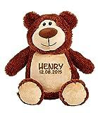 Wolimbo Braunbär Teddy Stofftier mit Namen Bestickt 41 cm hoch Teddybär