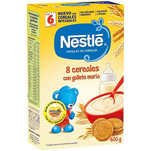 Nestlé Papilla 8 cereales con galleta María - Alimento Para bebés -...