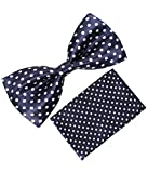 Greyon Blue With Dot Bow Tie With Pocket...