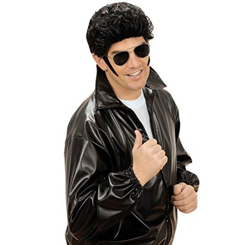 Koteletten Bart Elvis King Backenbart Kotelettenbart Rock 'n Roll Biker Rocker Rockabilly Sideburns Punker 50er Jahre Hollywood Star Chops Schlagerparty Seitenbart Kotletten Schlager Party Karneval Kostüm Zubehör