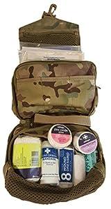 Bushcraft Unisexe militaire Multicam kit de premiers secours, Multicolore, 18x 12x 9cm