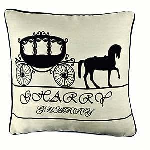 New Cream Pumpkin Carriage Fairy Tale Cinderella Art Pillow Case Cushion Cover