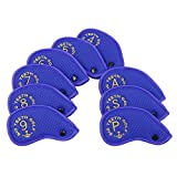 Big Teeth Iron Golf Head Covers 9pcs Meshy Protector Set with Button