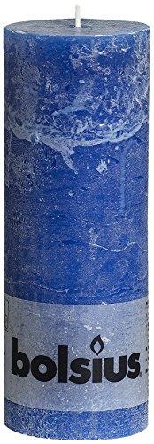 Rustikal 103868000366Stumpenkerze, Paraffin Wachs, navy blau