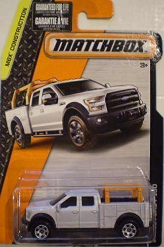 2015-matchbox-15-white-ford-f-150-utility-4-door-contractors-truck-by-mattel-by-mattel