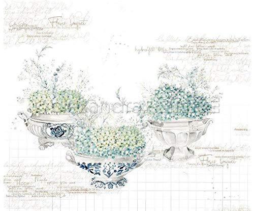 One-sided Scrapbook-Papier (1pc) Hortensien In Schalen, 30 30 Natur -, Papier -, Druck -, Scrapbooking -