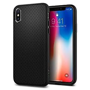 Spigen [Liquid Air] Custodia per Apple iPhone X  - Nero (Matte Black)