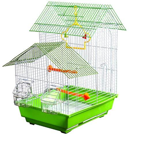 Hjd-Pet Nest Metall Vogelkäfig Tiger Papagei Villa Großer Vogelkäfig Vogel Akazie Zuchtkäfig Große Länge 33 cm Breite 27 cm Höhe 47 cm