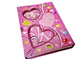 Art box big size GIRLISH heart print Box safe diary protected with 6 password (gift for girls)