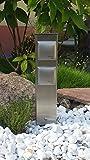 Energiesäule - Steckdosensäule aus Edelstahl mit 2 Steckdosen
