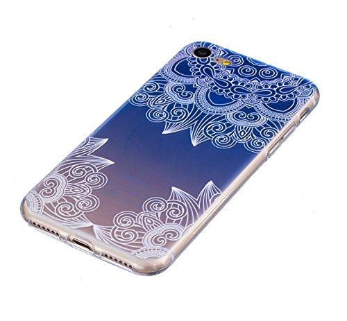 Custodia iPhone 6 6S , Cozy Hut Cover iPhone 6 6S Silicone Trasparente TPU Flessibile Sottile Bumper Case per Apple iPhone 6 6S (4,7 Zoll) Ultra Sottile Anti Graffi Silicone Cover Protettivo Pelle Gus erba blu