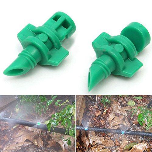 Sistema de riego con boquilla aspersor nebulizador rociador para césped, Micro jardín 180 grados ...