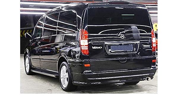 Trittbretter Passend Für Mercedes Vito Und Viano Amg W639 Extra Lang Ab Baujahr 2004 Model Truva Schwarz Mit TÜv Und Abe Auto