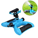 Leagway Lawn Water Sprinkler, Pulsating Sprinkler Automatic 360 Degree Rotation Weighted Stable Base