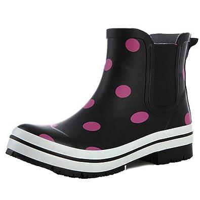 Rain Boots Damen Naturkautschuk Tube Pfützen Mädchen Gummistiefel, 1, 37