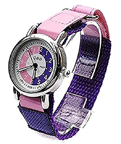 girls-kids-learn-to-tell-the-time-teaching-watch-purple-pink-dial-and-pink-strap