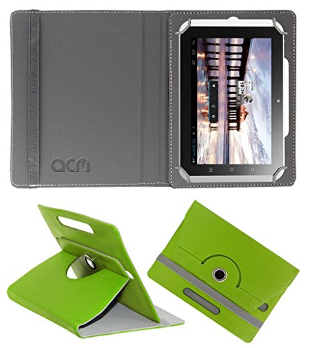 Acm Rotating 360° Leather Flip Case for Hcl Me Y2 Cover Stand Green  available at amazon for Rs.149