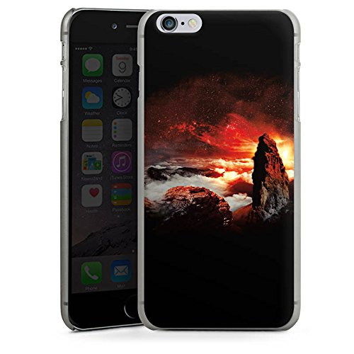 Apple iPhone X Silikon Hülle Case Schutzhülle Wolken Fantasie Berge Hard Case anthrazit-klar