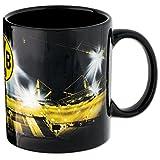Borussia Dortmund Tasse / Kaffeetasse / Kaffeepott / Mug / Becher - Metallic Stadionprint BVB 09 - plus gratis Aufkleber forever Dortmund
