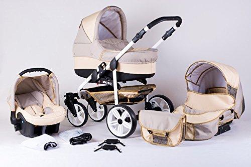 Matrix Modernes Travelsystem Kinderwagen Babywagen Buggy Kinderwagen System + Wickeltasche +...