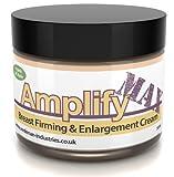 Amplify MAX Crema rassodante per il seno per 30 giorni, 11 modi per un seno più sodo VELOCE Made nel Regno Unito 100% naturale e biologica, 50 ml