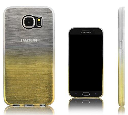 Xcessor Transition Color Custodia per Samsung Galaxy S6 SM-G920. Flessibile TPU Gel Con Gradient Della Filo Di Seta Texture. Trasparente /