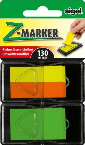 Sigel Z Marker - Marcadores para libros adhesivos reutilizables, color fluorescente